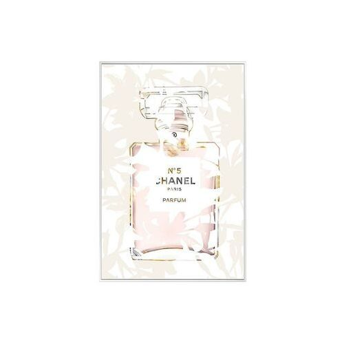 Obraz drukowany w ramie smooth – 60 × 90 × 2,5 cm (dł. × szer. × wys.) – kolor różowy i beżowy marki Vente-unique