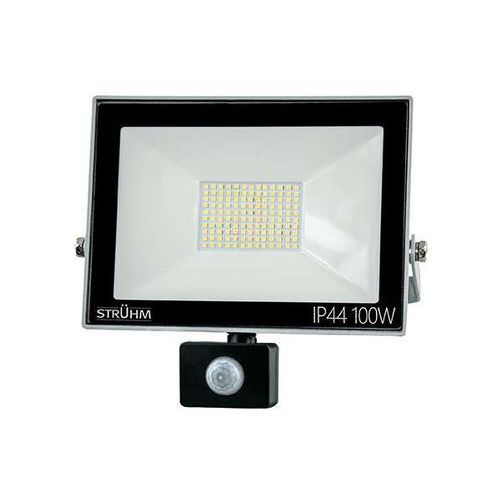 Zewnętrzna LAMPA ścienna KROMA LED 100W 03608 Ideus elewacyjna OPRAWA reflektorowa z czujnikiem ruchu outdoor IP44 szara
