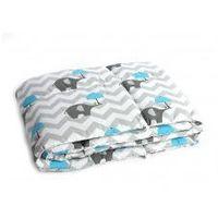 Ochraniacz na szczebelki do łóżeczka - słonie z niebieską parasolką marki Kieczmerscy atk