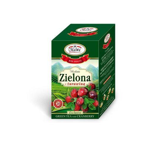 herbata zielona z żurawiną 20tb koperty marki Malwa tea