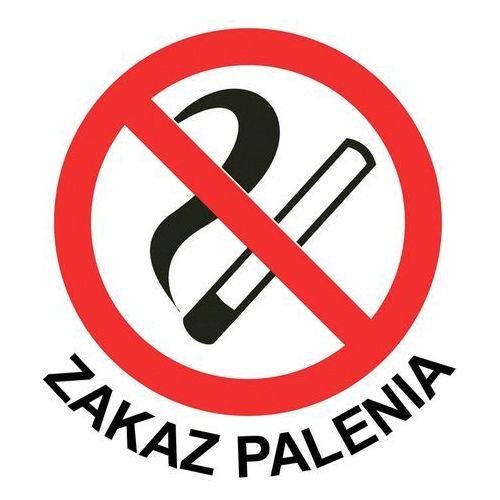 """Naklejka """"ZAKAZ PALENIA"""" - TYP I - 20 x 20 cm, towar z kategorii: Znaki informacyjne i ostrzegawcze"""