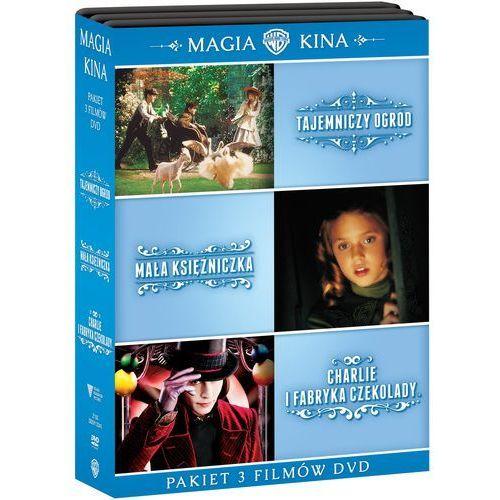 MAGIA KINA: KOLEKCJA 3 FILMÓW (3DVD) (TAJEMNICZY OGRÓD, MAŁA KSIĘŻNICZKA, CHARLIE I FABRYKA CZEKOLADY) - sprawdź w wybranym sklepie