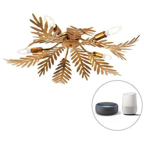 Vintage plafon złoty 5-źródeł światła E14 Wifi Smart - Botanica