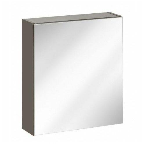 Producent: elior Wisząca szafka lazienkowa z lustrem - malaga 6x grafit