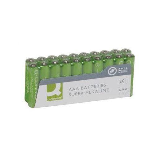 Baterie super-alkaliczne Q-CONNECT AAA, LR03, 1,5V, 20szt., KF10849