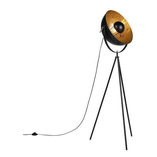 Industrialna lampa podłogowa trójnóg czarna 40cm - Magna Eglip