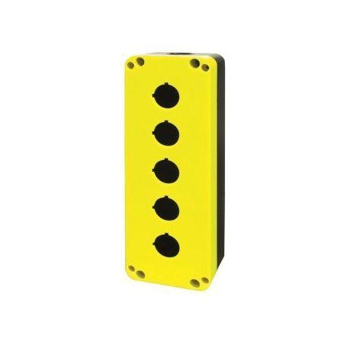 Obudowa żółto-czarna do przycisków z pięcioma otworami pq05k marki Giovenzana