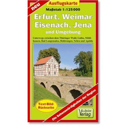 Doktor Barthel Karte Erfurt, Weimar, Eisenach, Jena und Umgebung (9783895912245)