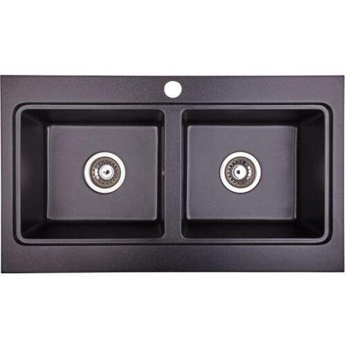 Zlewozmywak granitowy NUBIRU 20 czarny, kolor czarny