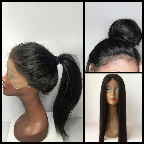 Long straight middle parting lace front human hair wig od producenta Sammydress