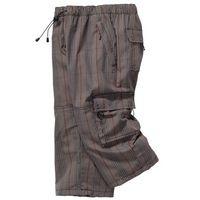 Spodnie 3/4 Loose Fit bonprix w kratę, szerokie