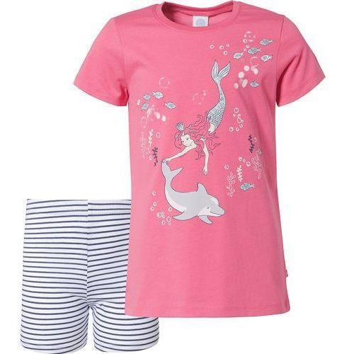 SANETTA Piżama ciemny niebieski / różowy / biały (4055502930443)