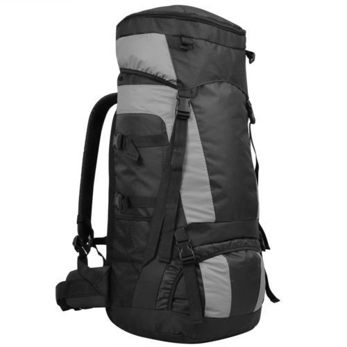 vidaXL Plecak turystyczny z osłoną przeciwdeszczową, XXL, 75 L, czarny