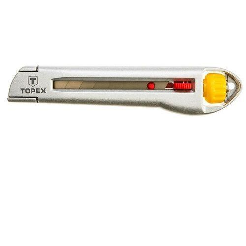 Nóż z ostrzem łamanym Topex 18 mm, metalowy korpus (5902062140975)