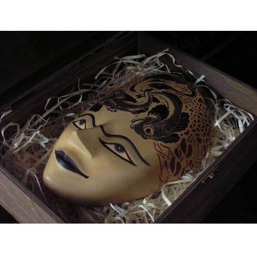 Autentyczny prezent rzeźba maska żywiołów natury marki Wyspa java