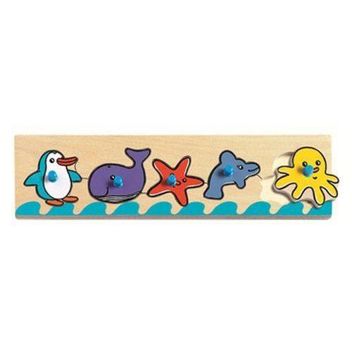 Puzzle drewniane z uchwytami Morze