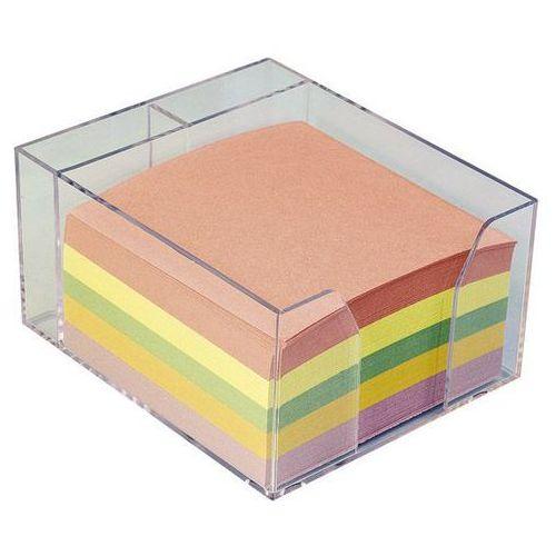 Kostka papierowa nieklejona pojemnik Idest 85x85/400k. mix