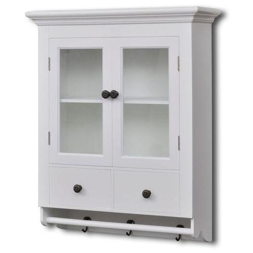 vidaXL Wisząca szafka kuchenna w kolorze białym, przeszklone drzwi