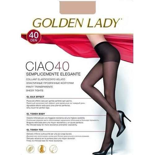 Rajstopy Golden Lady Ciao 40 den 4-L, czarny/nero. Golden Lady, 2-S, 3-M, 4-L, 5-XL, 8300497406128