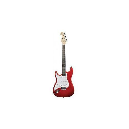 cal63/lh guitar metal red, gitara elektryczna leworęczna marki Chord