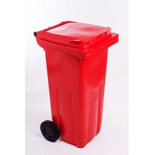 J.A.D. TOOLS plastikowy kosz na odpadki 240 l czerwony