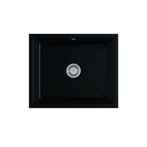 Zlewozmywak granitowy podwieszany DESK czarny mat, kolor czarny