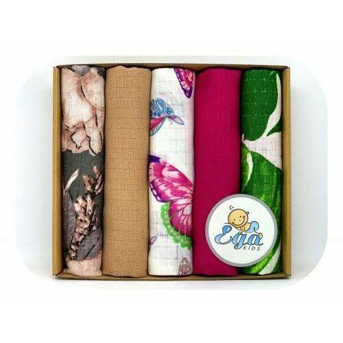 Pieluszki tetrowe drukowane 5szt. eco pudełko zest. 5 - Ega