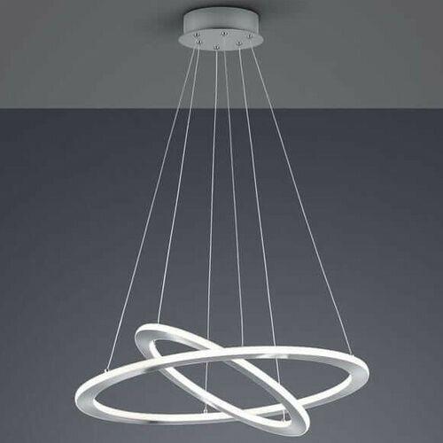 Wisząca LAMPA loftowa DURBAN 321910207 Trio metalowa OPRAWA okrągły ZWIS LED 40W 3000K pierścienie rings nikiel