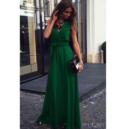 Sukienka JUDITH GREEN, kolor zielony