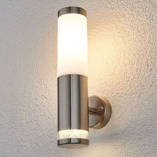 Lindby Nowoczesna okrągła lampa zewnętrzna ze stali nierdzewnej - binka
