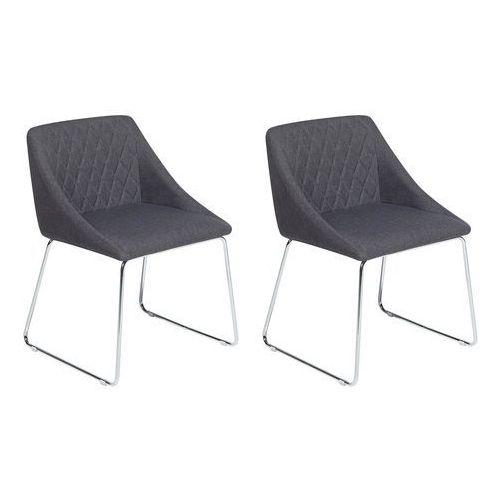 Zestaw do jadalni 2 krzesła ciemnoszare ARCATA, kolor szary