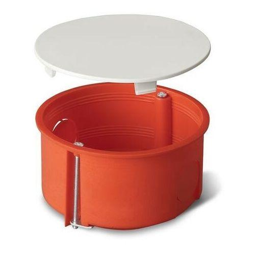 Puszka podtynkowa 80 do karton-gipsu z pokrywą 0209-00 pomarańczowa Elektro-Plast