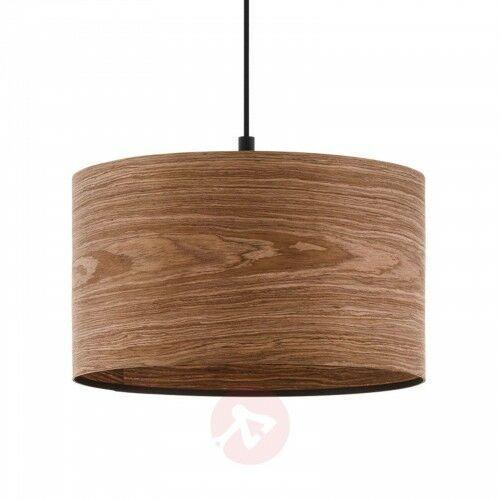 Eglo Lampa wisząca cannafesca z drewnianym kloszem 38cm