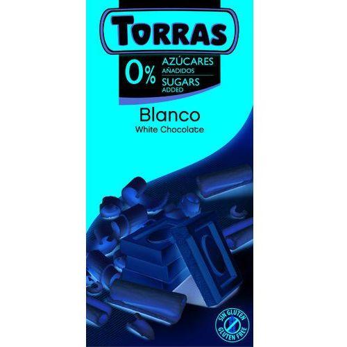 Czekolada biała bez dodatku cukru 75g marki Torras