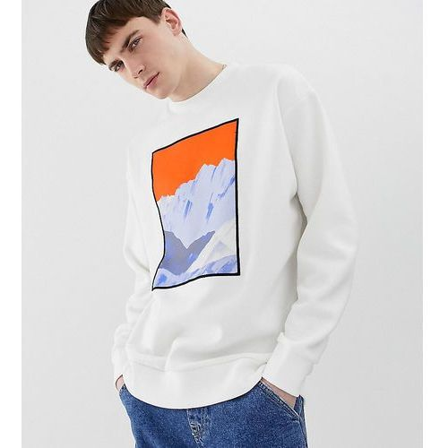 Noak sweatshirt with abstract art print and embroidery - cream