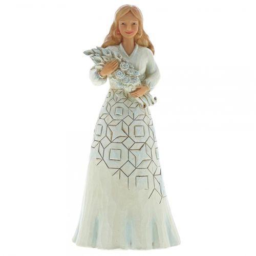 Z życzeniami szczęścia Wishing You A Happy Day 6001559 Jim Shore figurka róże
