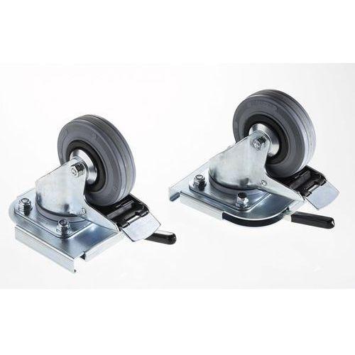 Zarges Zestaw rolek clip-on, 2 rolki skrętne, Ø kółka 100 mm. możliwy montaż bez narzęd
