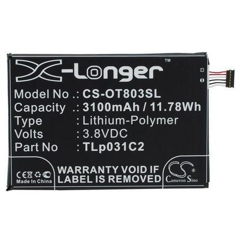 Alcatel One Touch Hero 2 / TLp031C2 3100mAh 11.78Wh Li-Polymer 3.8V (Cameron Sino) z kategorii Baterie do telefonów