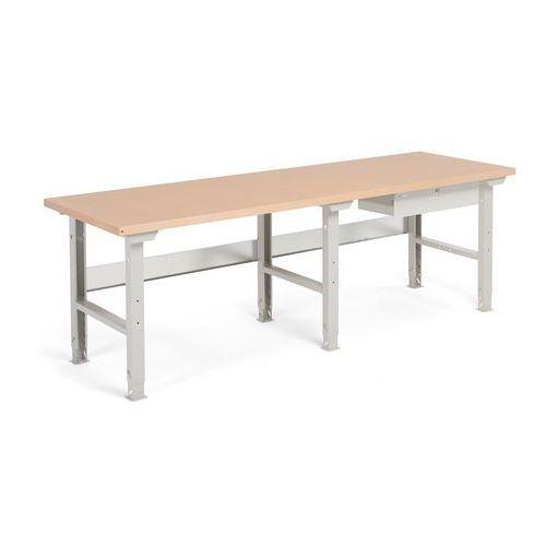 Aj produkty Stół warsztatowy robust, z regulacją wysokości, 1 szuflada, 800x2500 mm