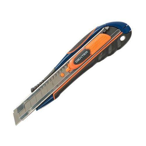 Nożyk techniczny 18 mm z ostrzem prostym DEXTER (3276004864406)