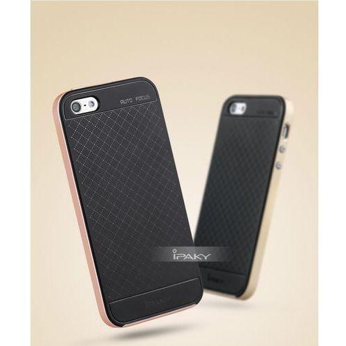 Etui iPaky Premium Hybrid Apple iPhone 5s/SE Gold + Szkło