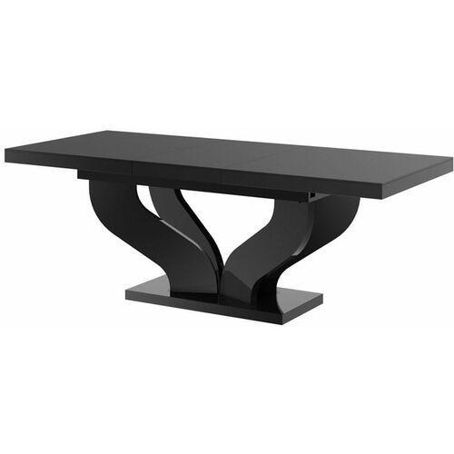 Stół rozkładany viva 160-256 czarny połysk marki Hubertus