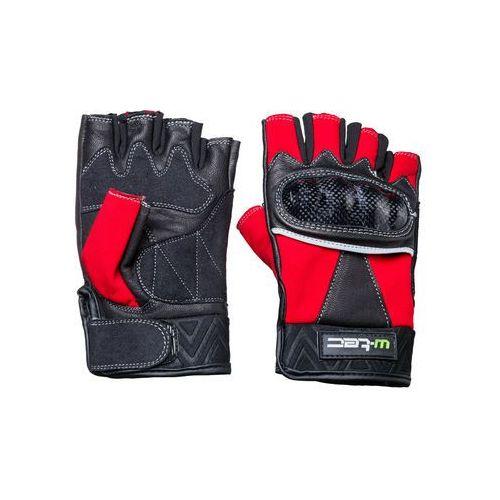 Skórzane rękawice motocyklowe reubal nf-4190, czarno-czerwony, xl, W-tec