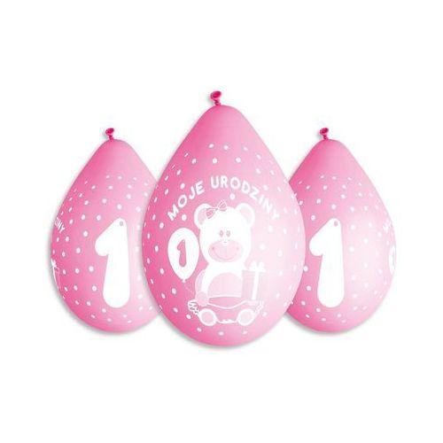 Gemar Balony z nadrukiem dla dziewczynki moje urodziny - 30 cm - 5 szt.