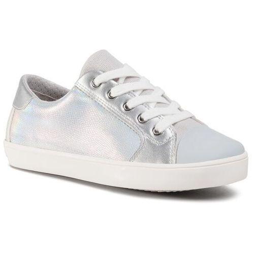 Trampki GEOX - J Gisli G. A J024NA 0NFBC C0434 S Silver/White, kolor szary