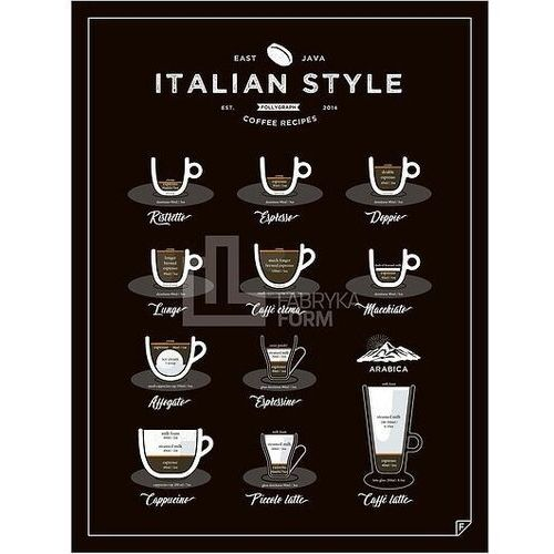 Follygraph Plakat italian style coffee 30 x 40 cm
