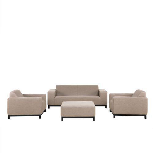 Meble ogrodowe beżowe - do salonu - komplet - sofa ogrodowa - ROVIGO (7105272970266)