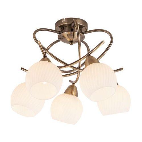 Plafon lampa sufitowa Rabalux Evangeline 5x40W E14 antyczny brąz 7120 (5998250371207)