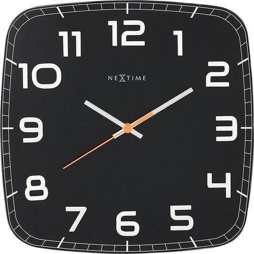 Zegar ścienny Classy Square czarny, kolor czarny