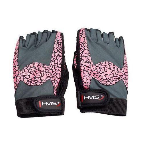 Hms Rękawice fitness rst03 (rozmiar l) różowo-szary